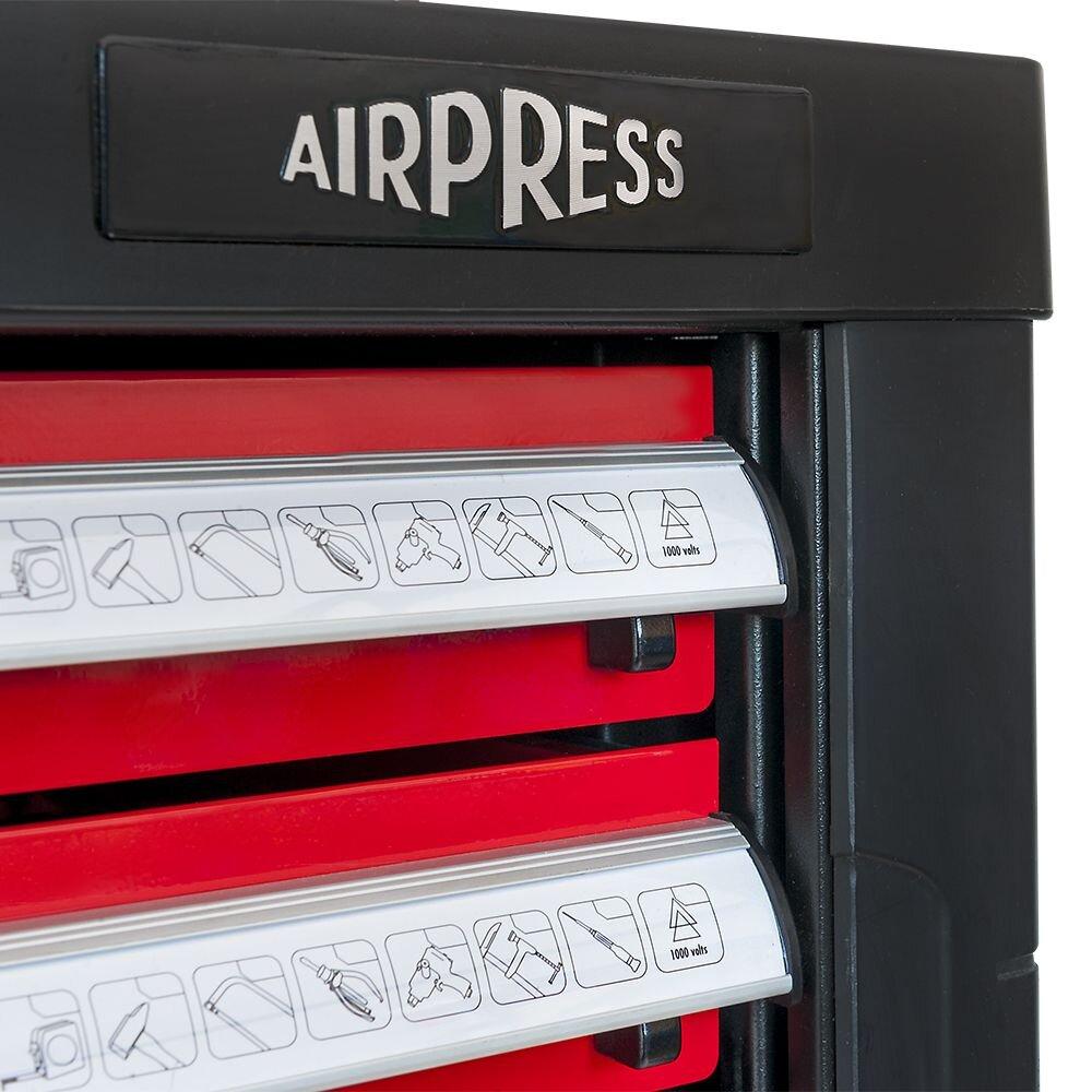 Airpress Profi Werkzeugwagen mit 7 Schubladen 217-teilig 79156