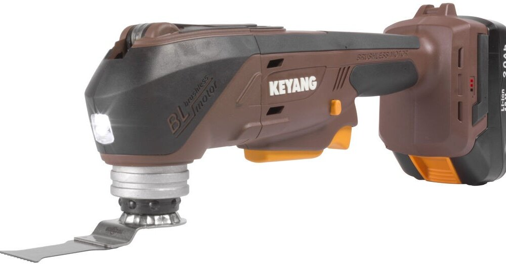 KEYANG Multi-Tool Akku-Oszilierer mit Starlockaufnahme , 18V 2×2,0Ah, 19500 RPM, Brushless