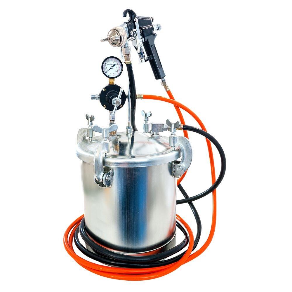 AIRPRESS FARBSPRITZPISTOLE mit 8,5 Liter Behälter komplett ausgestattet