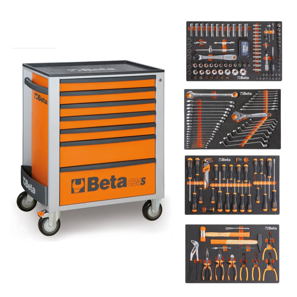 BETA EASY WERKZEUGWAGEN C24S7 ORANGE + 210TLG SORTIMENT