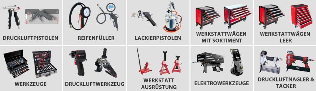 Airpress Sortiment 1024x297 - Handel mit Werkzeug und Maschinen