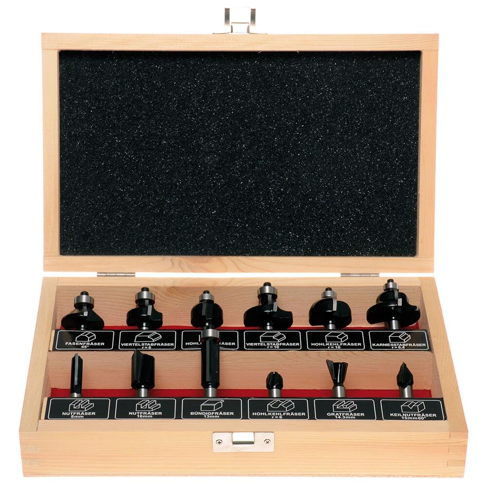 HM Oberfräser Set 8mm Schaft 12tlg.